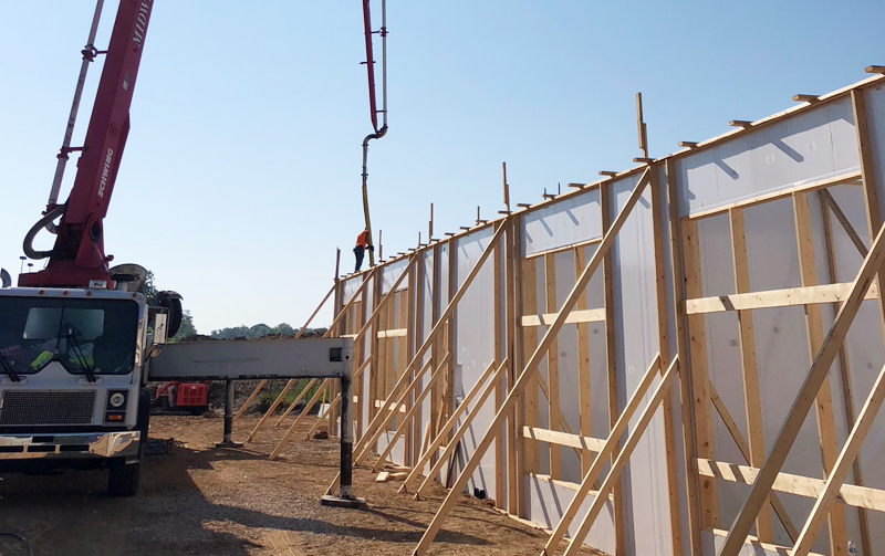 Building Construction with Wall Forms by Tri State Car Wash Solutions