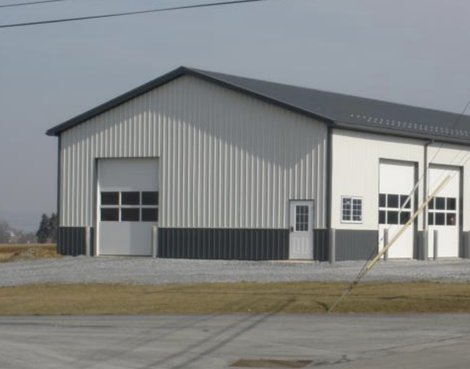 American Steel Garage Building built by Tri State Car Wash Solutions, Griggsville, IL