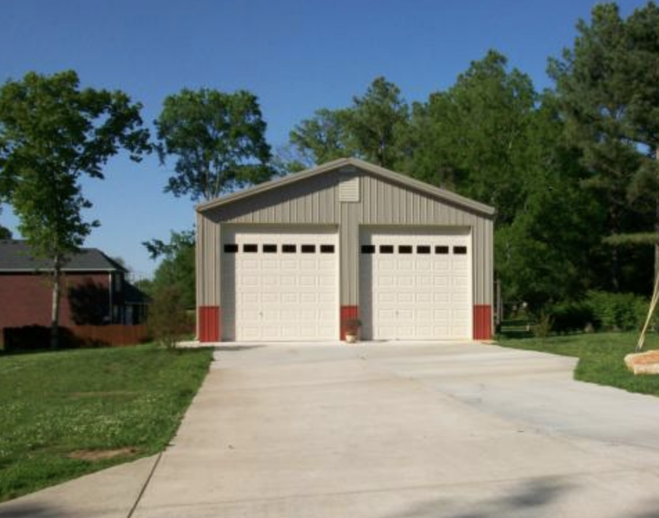 American Steel 2-Car Garage built by Tri State Car Wash Solutions, Griggsville, IL
